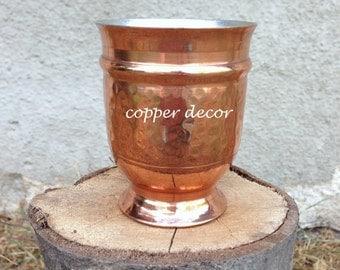 copper cup / copper mug / hammered