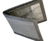 Flowfold Slim Front Pocket Billfold Wallet Handmade in USA from Repurposed Racing Sailcloth // Black