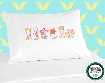 Digitally Printed Sorority Pillowcases - LITTLE with Floral Design