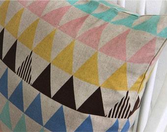"Cotton Linen Fabric 2"" (5 cm) Triangle Dark Beige By The Yard"