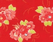 2 Yard Cut - FLANNEL Miss Kate by Bonnie & Camille 55090 11F Blossom Red