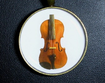 Fiddle  Necklace / Pendant