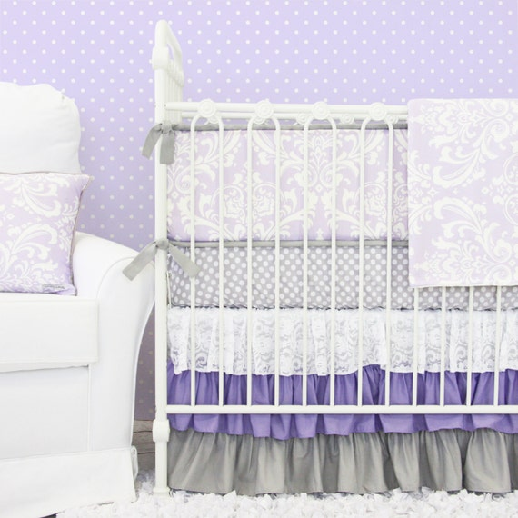 Purple Crib Bedding Set Baby
