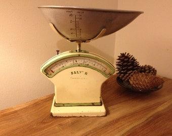 Vintage Rare Salter Kitchen Scales