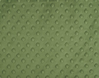 Minky Fitted Crib/Pack N Play/Play Yard/Twin Sheet - Olive Green