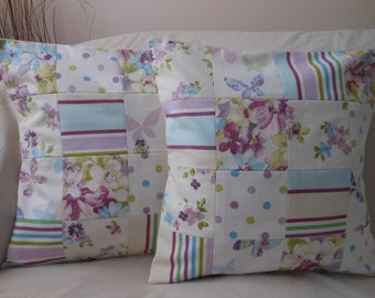 Pair of Patchwork Cushion Covers