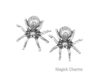 SPIDER  Earrings .925 Sterling Silver Halloween Post Stud - se20002