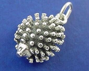 HEDGEHOG Charm .925 Sterling Silver Porcupine Pendant - lp2954