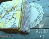 "RAG QUILT KiT - You CHooSe Colors/Style!! // DIY All Materials & Instructions ""How to Make a RaG QuiLT"" - Everything for DiY Rag Quilt"