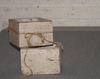 Wood planter box. Distressed, painted centerpiece/wedding centerpiece/Succulent planter