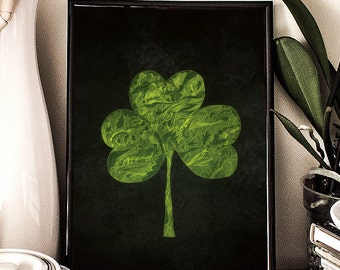 Shamrock, St Patrick's Day, Printable Art, Clover, doodle, Illustration