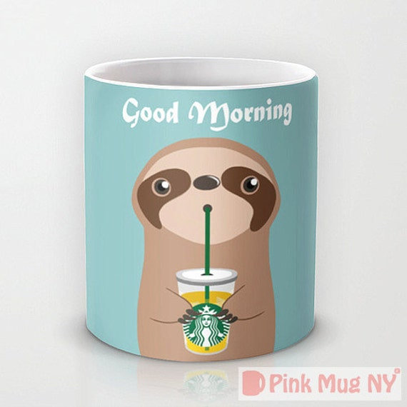 Sloth Starbucks mug