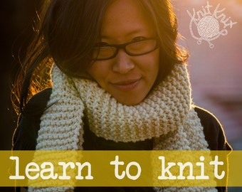 Classic Scarf Kit - LEARN TO KNIT