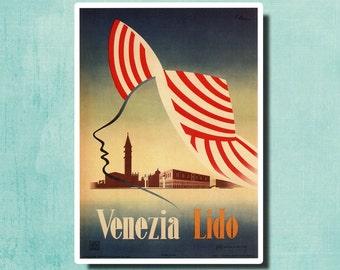 VENICE Italy - Vintage Italian Travel Poster by Edmondo Bacci 1948 - SG2372