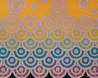 Erté Print Book Plate Art Deco Dress Design. Original Vintage Art Print. Sumptuous Eye Catching Color