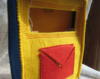 POSTBOX-felt toy-handmade-game of postman