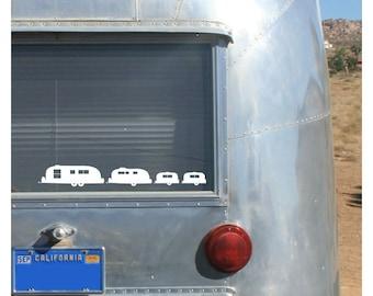 Airstream Family Vinyl Car Decal