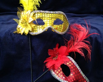 Masquerade Masks with Handle