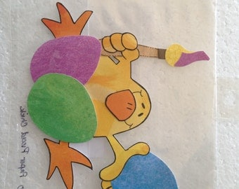 Chick Egg Painting Paper Piecing
