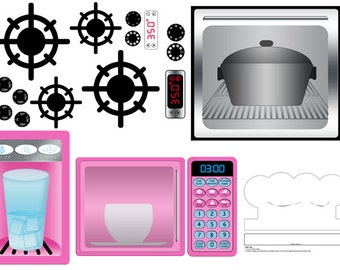 DIGITAL DOWNLOAD Play Kitchen Decal Printables
