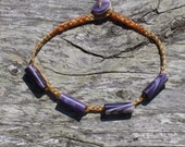 Four bead braided wampum bracelet Martha's Vineyard Native American made
