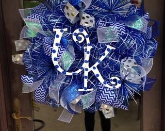 University of Kentucky deco mesh wreath
