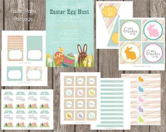 Easter Party Package - DIY Printables