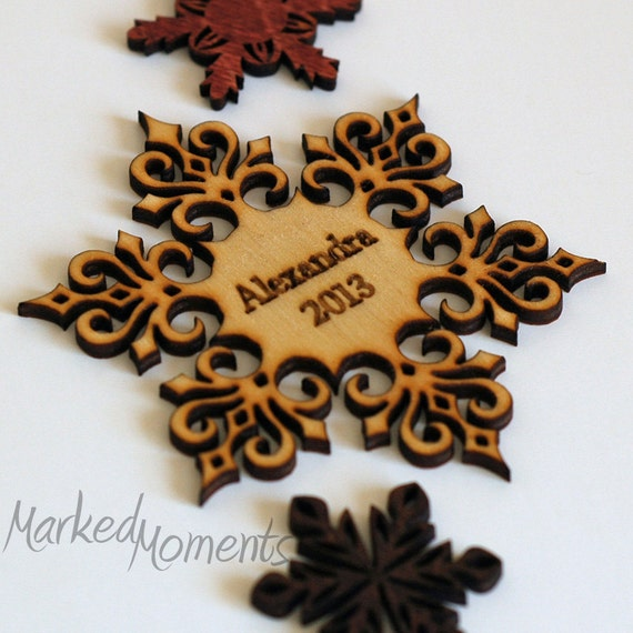 Items similar to personalized christmas ornament wood for Custom engraved christmas ornaments
