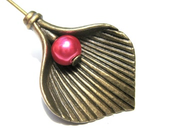 10pcs Antique Bronze Leaf Charms Pendants Earring Drops 28mm