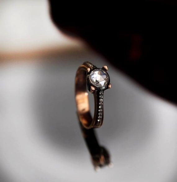 moissanite ring wedding ring antique model by virjinyacvdesign