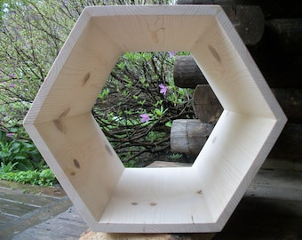 Hexagon Side Table or Honeycomb Cubby