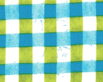 A Stitch In Color Turquoise Pear Plaid Fabric from Malka Dubrawsky