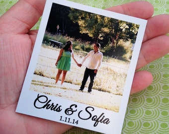 """30 Custom Photo Magnets - 3.5"""" x 4.25""""  Size - Save the Date - Wedding Announcement - Your Photos"""