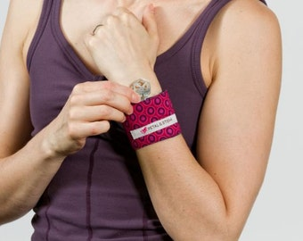 Wristband with Pocket - Reversible Beaujolais Wine Wrist Hugger & Wristwarmer