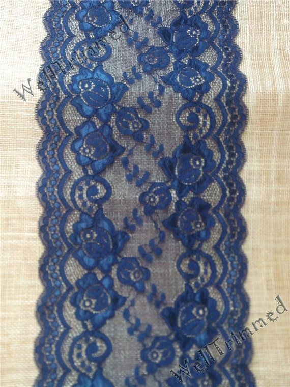 10ft navy table runnerlace table runner wide stretch lace for 10 foot table runner