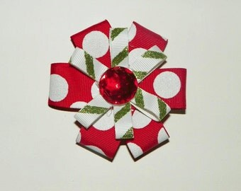 Christmas Ribbon Flower Bow