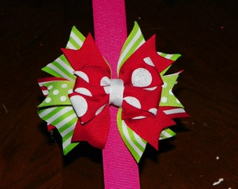 Christmas Stacked Bow