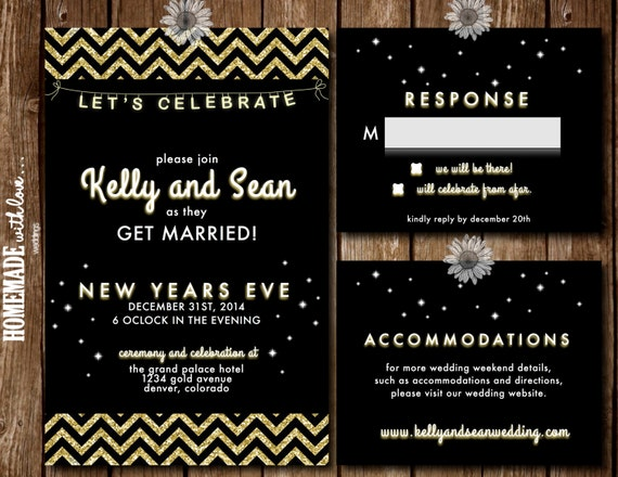 new years eve wedding invitations printable new year s wedding invitations 6154