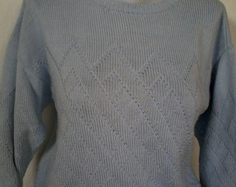 pure cotton this little spring sky blue sweater size 38