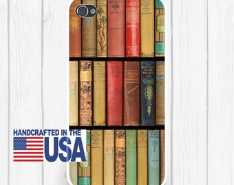 Vintage Books Bookcase Library Art Personalized Phone Case iPhone 6/6S, iPhone 5/5S, iPhone SE, Samsung iPhone7 iPhone 7