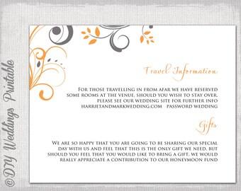 Wedding Information Card Template | ctsfashion.com