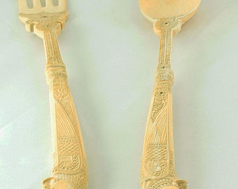 Faux Ivory  Faux Ivory Spoon and Fork