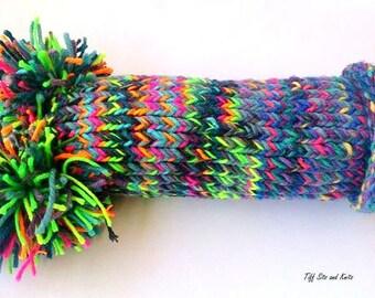 Large Rainbow Knit Penis Plush