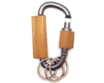 Carabiner Leather Keychain Fob - BALLISTA