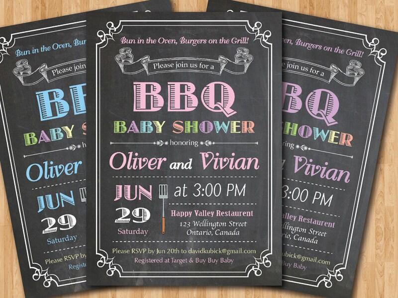 bbq baby shower invitation baby q shower invitation