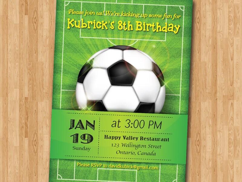 Soccer birthday invitation Football Baby boy 1st first – Football Invites Birthday