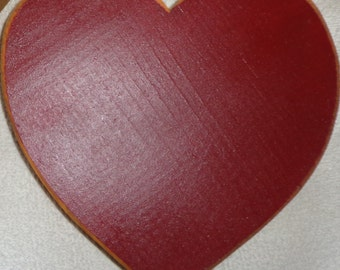 Wooden Painted Heart Curtain Holder Tieback