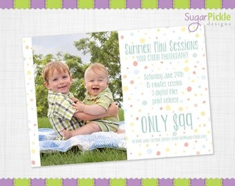 Summer Mini Session Template, Summer PSD Template, Summer Mini Session, Photographer Template, Summer Minis Template, Photo prop