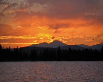Sunset at Echo Lake, Mt. Evans, Colorado