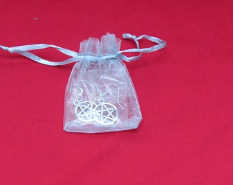 Small silver organza bag (5 x 7 cm)